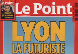 Le Point avril 2012 - Lyon la futuriste - les super-adresses