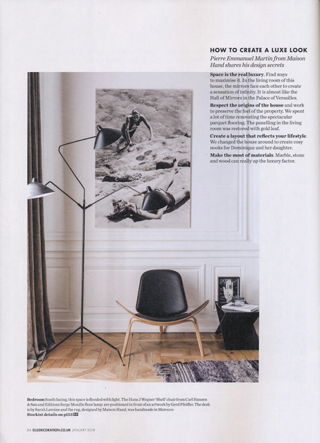 Maison HAND - ELLE DECO Janvier 2018 - texte Irish Lorenz - Photos Felix Forest - Living Inside