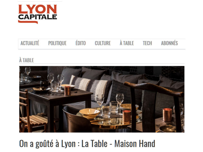Maison HAND - la TABLE - Lyon Capital