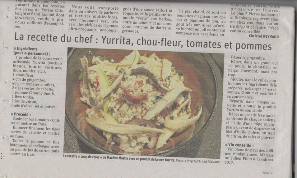 Maison Hand La Table - article Le Progres Christel Reynaud
